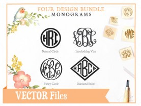 monogram-svg-4fontbundle