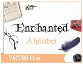 Enchanted Fairy Magic SVG Cuttable Alphabet Font