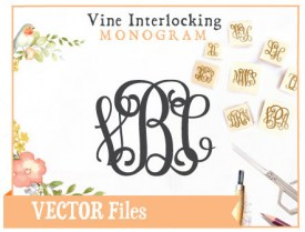 Vine Interlocking Monogram